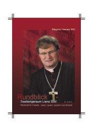 Rundblick Pfingsten/Sommer 2012 - Pfarre Heilige Familie, Lienz