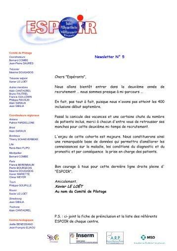 Newsletter 05 - La cohorte ESPOIR
