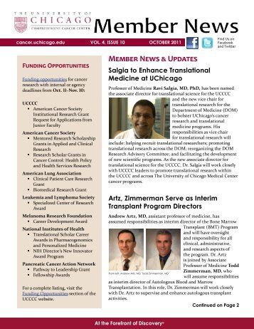 Member News & Updates - The University of Chicago Medicine ...
