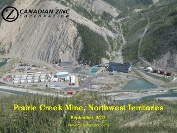 Prairie Creek Mine, Northwest Territories September ... - PrecisionIR