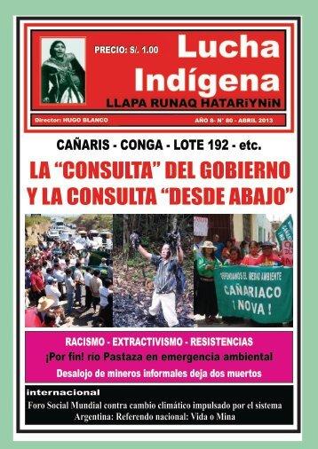 Lucha Indígena No. 80 PDF