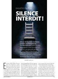 Enquête de l'AMF : silence interdit! - Conseiller