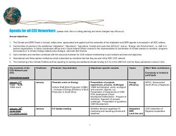 Agenda for all CCE Networkers - SDC Climate Change and ...