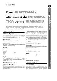 Faza JUDEŢEANĂ a TICĂ pentru GIMNAZIU - GInfo
