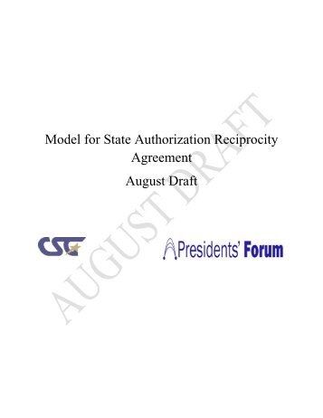Matrix crosswalk of reciprocity agreements sheeo model for state authorization reciprocity agreement sheeo platinumwayz