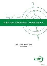 Avgift som verkemiddel i varmesektoren - Zero