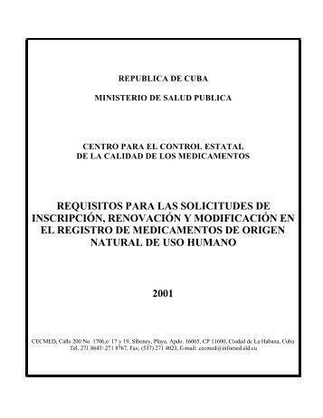 Requisitos para las solicitudes de Inscripción, Renovación