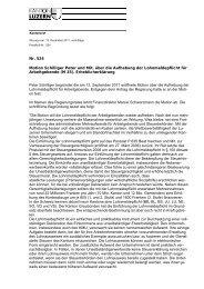 Nr. 524 Motion Schilliger Peter und Mit. über die ... - Steuern Luzern