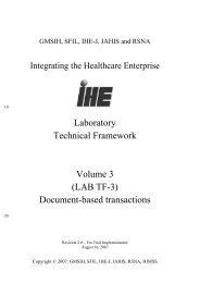 Laboratory Technical Framework Volume 1 - IHE