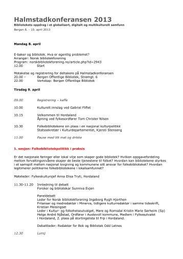 Halmstadkonferansen 2013