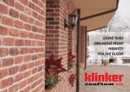 Ponukový katalóg a cenník pre rok 2013 - Klinker