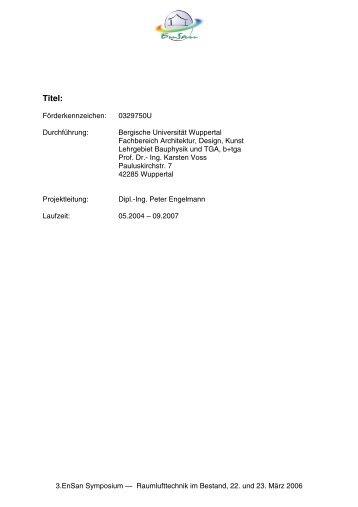 454 KB - Energetische Sanierung der Bausubstanz - EnSan