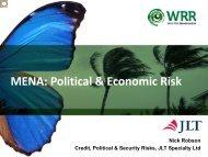 MENA: Political & Economic Risk - JLT
