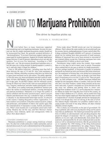 An End to Marijuana Prohibition - Drug Policy Alliance