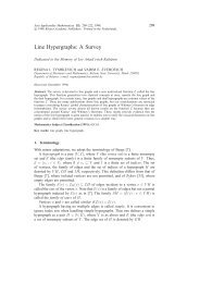 Line Hypergraphs: A Survey - Springer