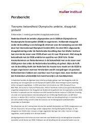 Persbericht 2 - Mulier Instituut