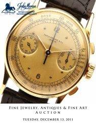 A u c t i o n Fine Jewelry, Antiques & Fine Art - California Art Auction