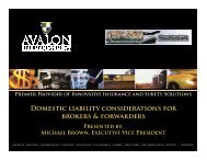 Domestic liability considerations for brokers & forwarders - CCBFA.org