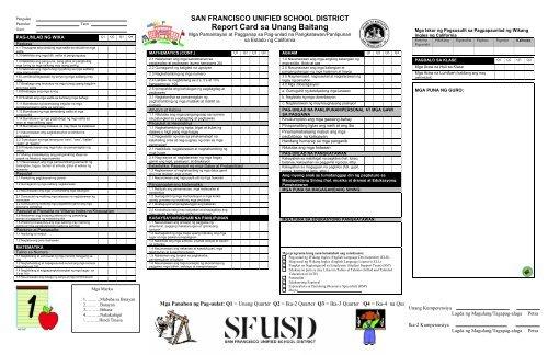 Report Card sa Unang Baitang