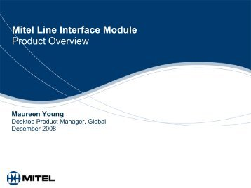 Line Interface Module Product Presentation - Ash Telecom