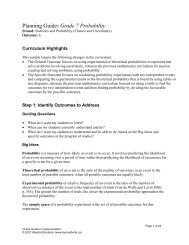 Planning Guide: Grade 7 Probability - LearnAlberta.ca
