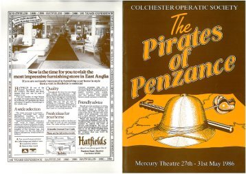 The Pirates of Penzance 1986 - Colchester Operatic Society