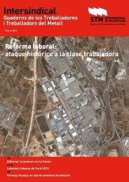 Ataque histórico a la clase trabajadora - STM Intersindical Valenciana