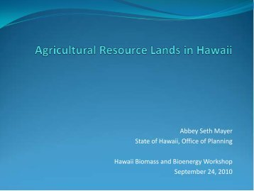 Agricultural Resource Lands in Hawaii - US Department of Agriculture