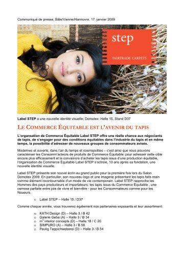 LE COMMERCE ÉQUITABLE EST L'AVENIR DU TAPIS - Label STEP