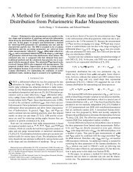 A method for estimating rain rate and drop size distribution from ...