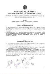 ipotesi di accordo per la distribuzione del fua 2011. - Archivio storico ...