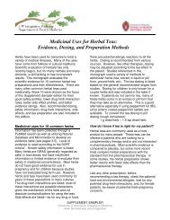 Medicinal Uses for Herbal Teas - UW Family Medicine - University of ...