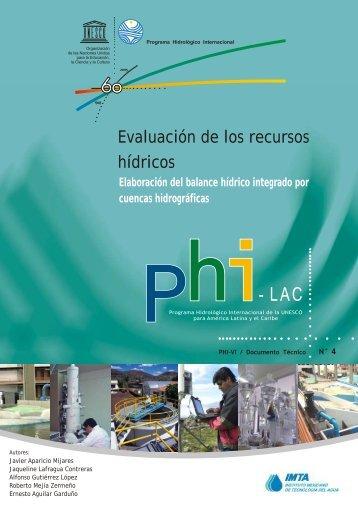 Evaluación de los recursos hídricos