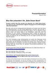 """Presseinformation Blue Star präsentiert: Die """"Balls Dream ... - Loctite"""