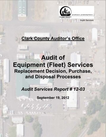 Audit of Equipment (Fleet) Services - Clark County