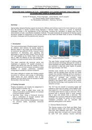 Offshore Wind Turbines on TLPS - GL Garrad Hassan