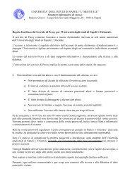 Regole servizio Proxy - Università degli studi di Napoli L'Orientale