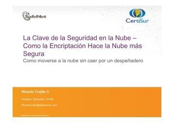 Riesgos y Tendencias de Seguridad en la Nube - CICOMRA