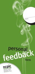 Personal Feedback Form - National Cannabis Prevention and ...