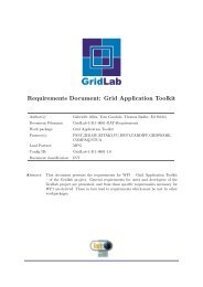 Requirements Document: Grid Application Toolkit - GridLab