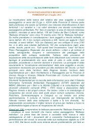 Marco Giaracuni - PTRC Piano Territoriale Regionale di ...