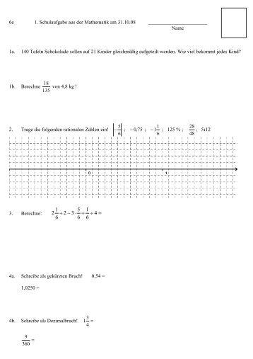 Übungsblatt 2 zur Vorbereitung auf die erste Schulaufgabe