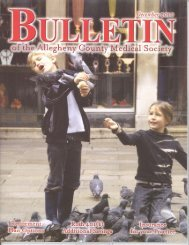 December 2010 Bulletin - Allegheny County Medical Society