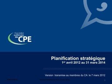 Planification stratégique - Rcpeqc.org