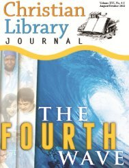 Aug. Oct. 2012 Publisher_shawn.pub - Christian Library Journal