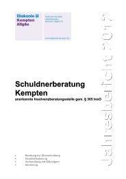 Jahresbericht 2012 - Diakonie Kempten Allgäu