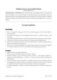 Multipel sclerose og Graviditet/Fødsel Forslag til guideline - DSOG