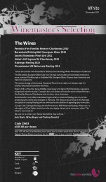 Winemaster's Selection December 2011 - White - The Wine Society