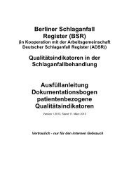 Projekt Schlaganfall - EQS Hamburg