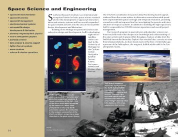 Space Science and Engineering - Southwest Research Institute